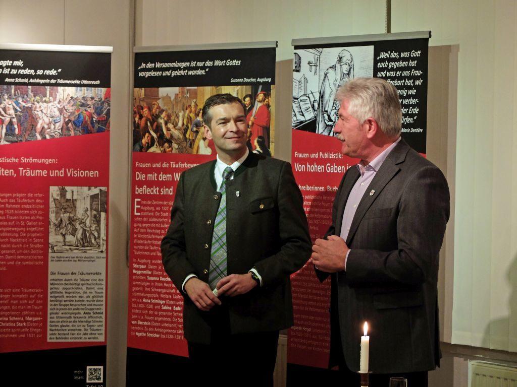 Haushams Bürgermeister Jens Zangenfeind und Hubert Lacrouts.