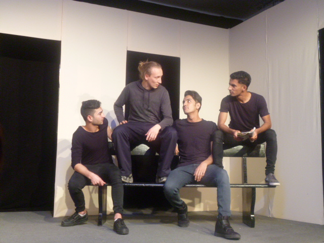 Theater Spektrum in der Alten Madlschule in Bad Tölz - Nach dem Fußball mit Franz.