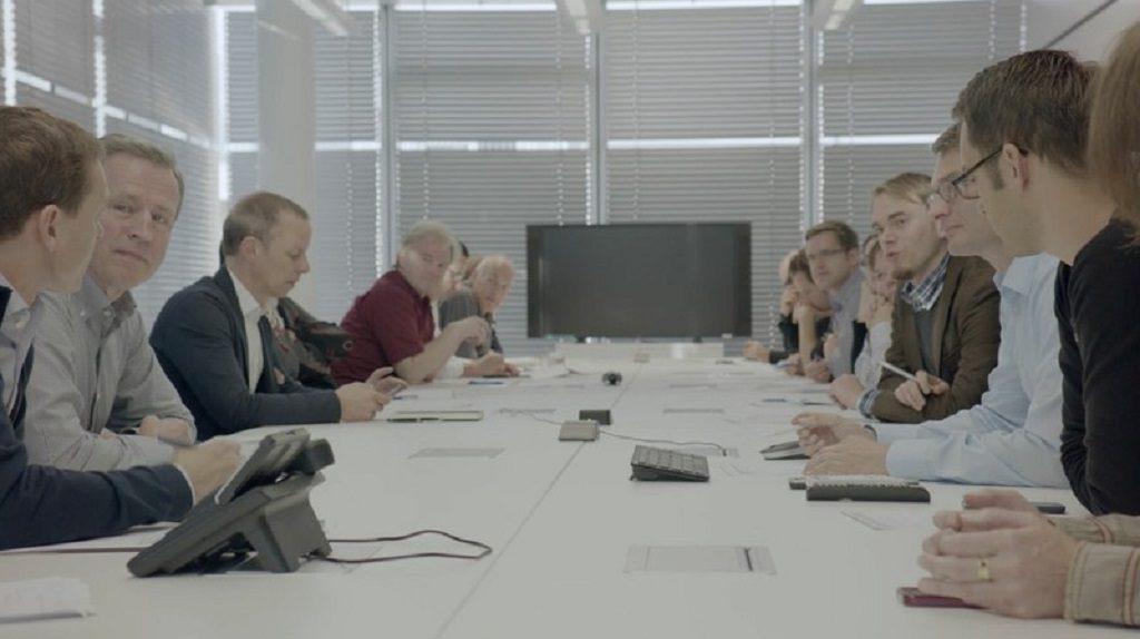 Film Grundrauschen - Redaktionskonferenz in der dpa-Zentralredaktion Berlin