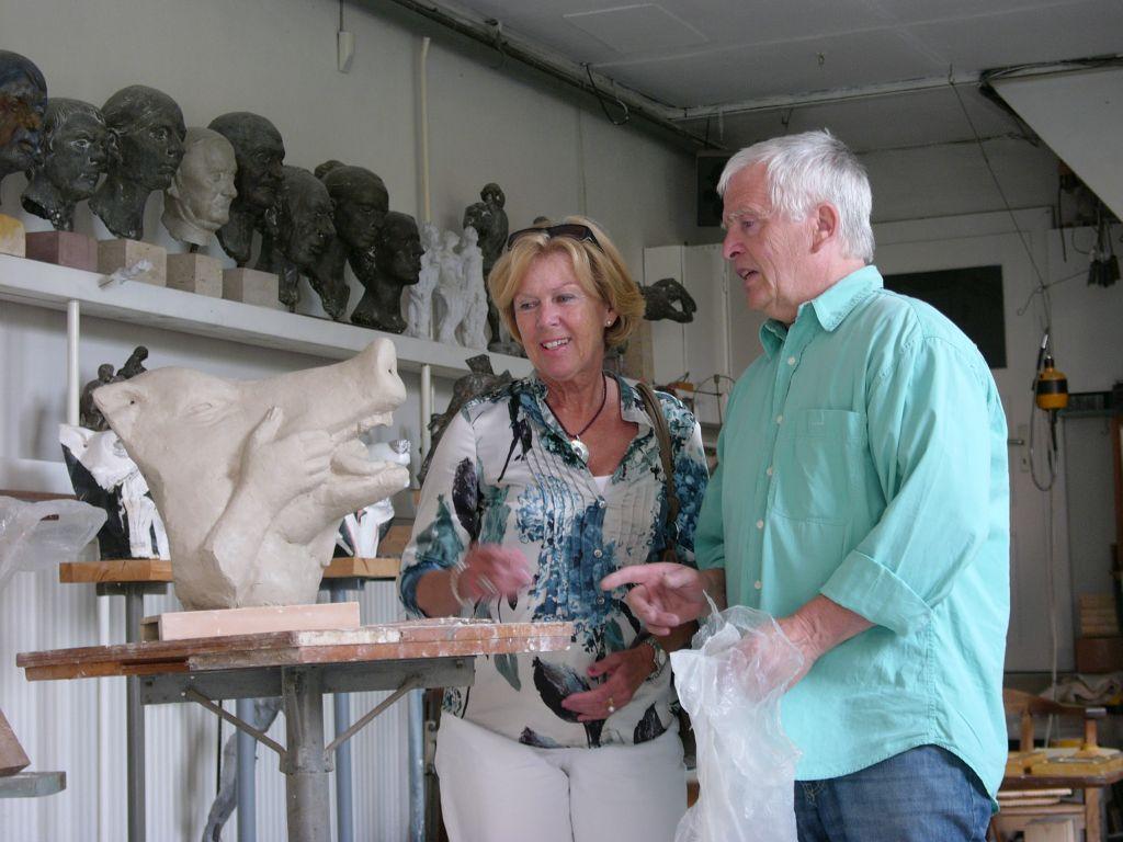 Monika Ziegler mit Bildhauer Bernd Göbel