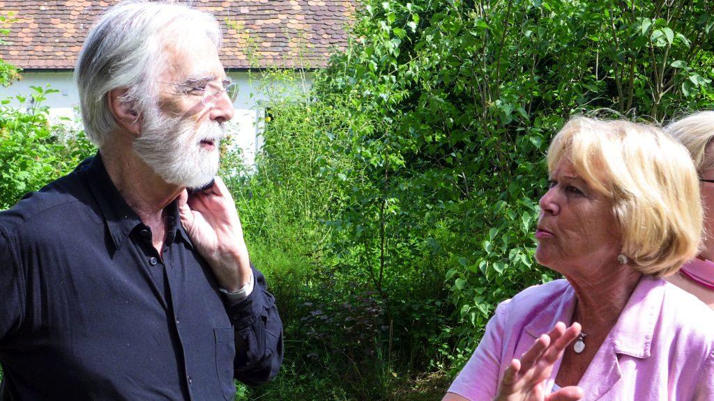 """Monika Ziegler mit Oscarpreisträger Michael Haneke zum Thementag """"Liebe"""" der österreichisch-tschechischen """"Kulturbrücke Fratres"""""""