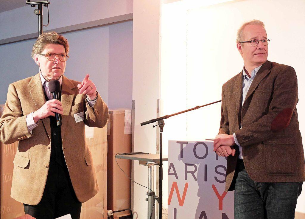 Wilhelm Vossenkuhl, Philosoph und Christoph Böninger, Moderator des Symposiums MCBW meets MB (v.l.)