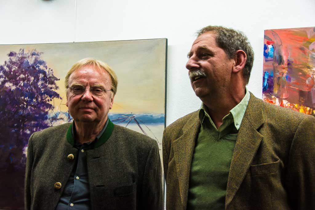 gmundart 2017: Hans Weidinger und Herbert Kozemko (v.l.)