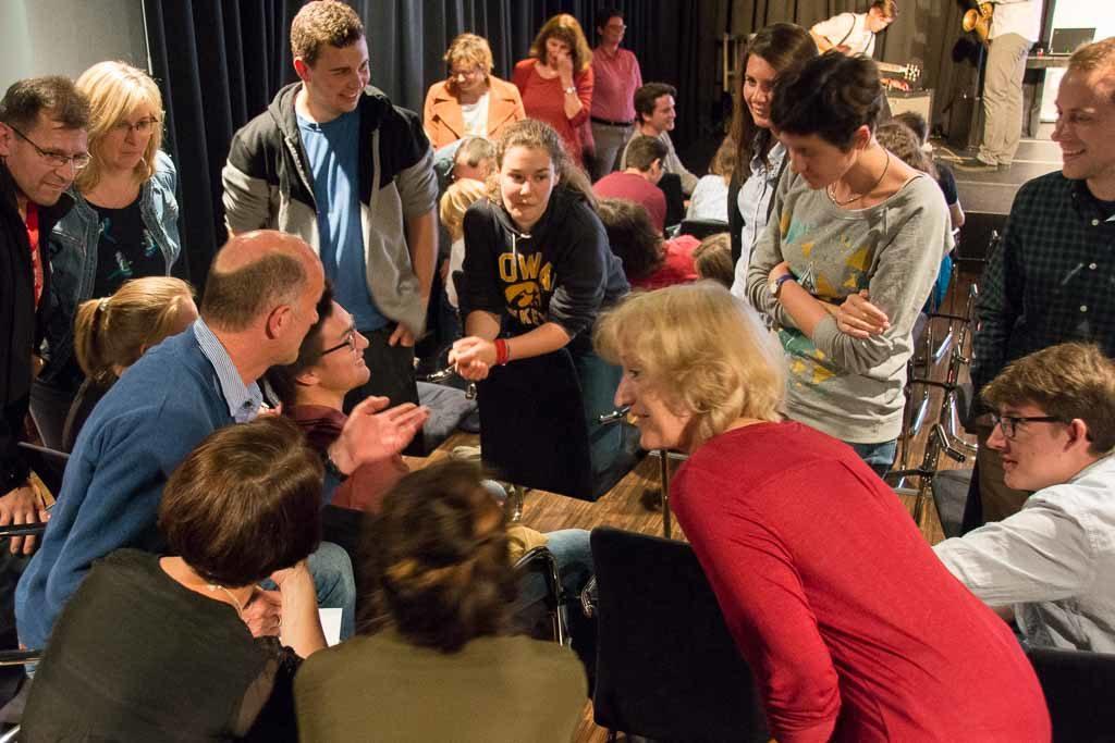 Juryarbeit: Das Publikum diskutierte und entschied in Gruppen