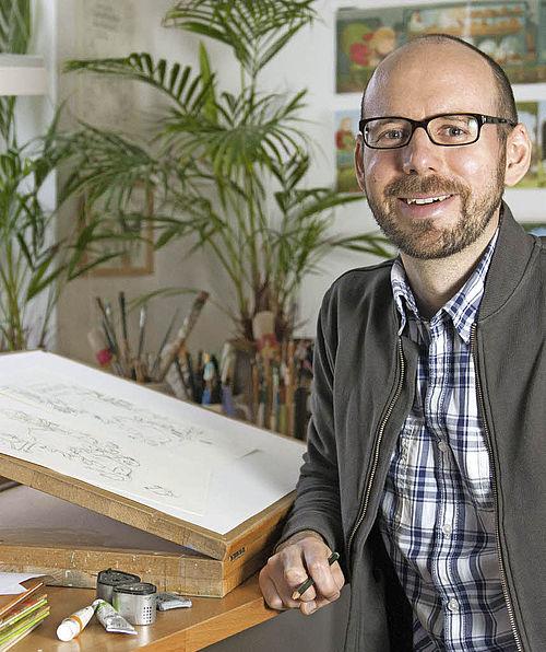 Kinderbuchautor und Illustrator Alexander Steffensmeier, Foto: Frischmuth/Packwitz
