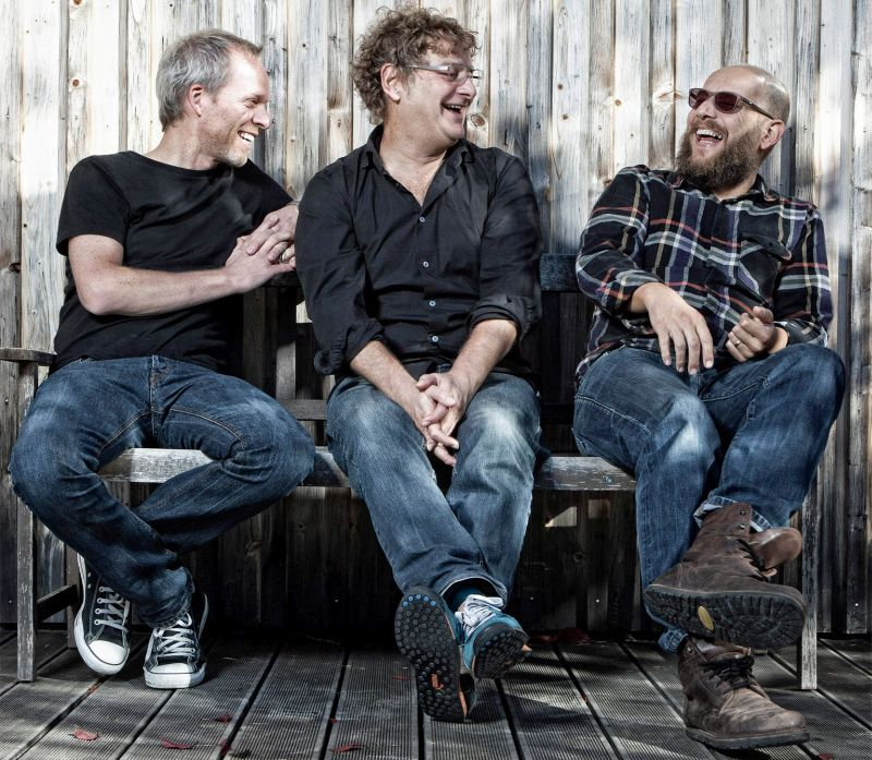 Kuh Lieselotte und die Bananafischbones: Florian Rein (Schlagzeug), Peter Horn (Gitarre) und Sebastian Horn (Gesang), v.l.