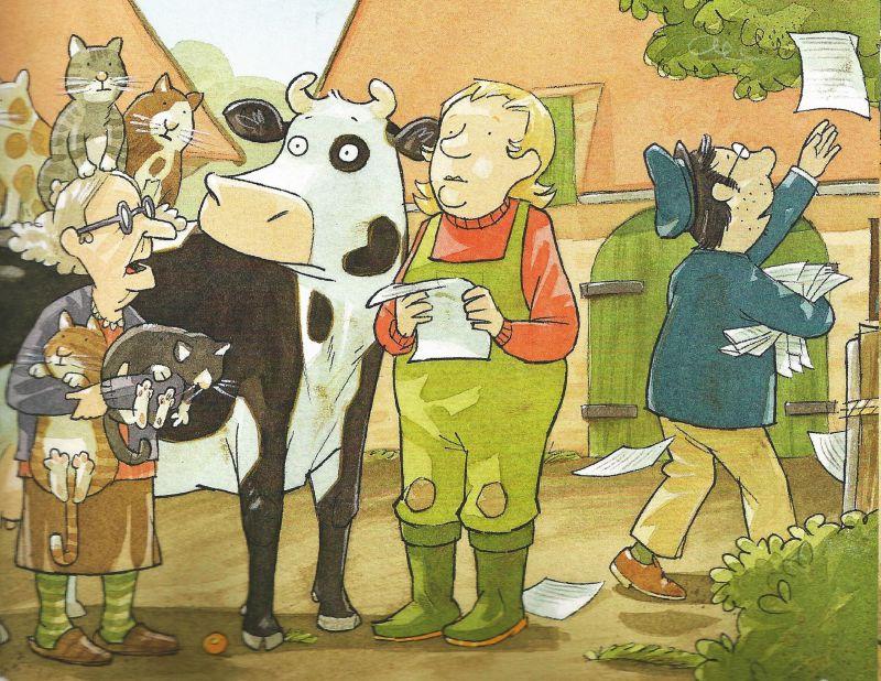 """Ausschnitt aus dem Kinderbuch """"Lieselotte und der verschwundene Apfelkuchen"""", Repro: IW"""