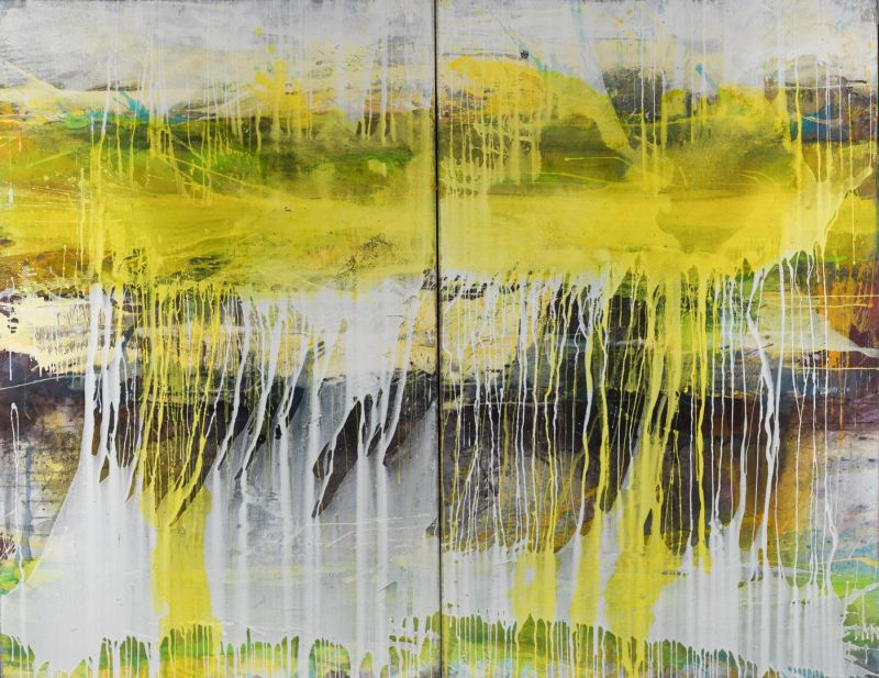 Jürgen Welker: o.T., Acryl, 220 x 170. Foto: Bildpark Gallery