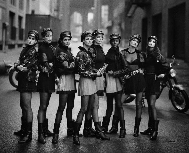 Models wie Naomi Campbell, Linda Evangelista, Kate Moss, Christy Turlington und Tatjana Patitz waren jung und unbekannt, als Lindbergh sie in den späten 1970ern und den 1980ern fotografierte. Foto: Kunsthalle München