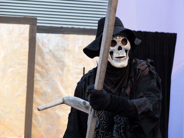 Regisseur Ingo Neise in der Rolle als Tod
