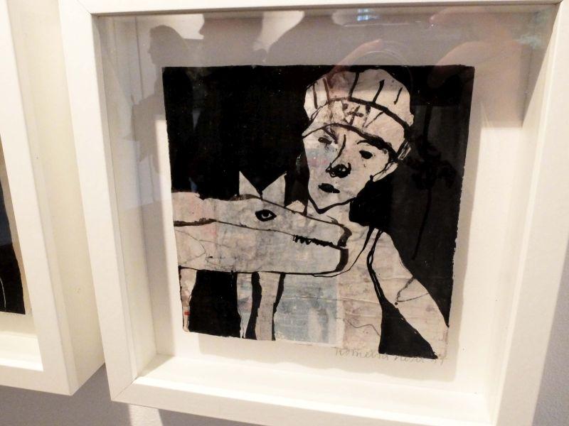 """Kunstausstellung Bayrischzell - Kornelia Kesel: """"Einzelstücke"""", Collagen. Foto: Ines Wagner"""