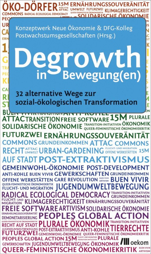 Titel Degrowth in Bewegungen