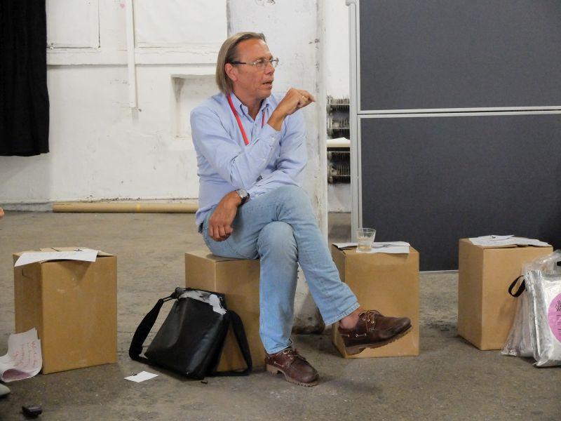Sozialpsychologe Harald Welzer beim Zukunftsworkshop von FuturZWEI in München