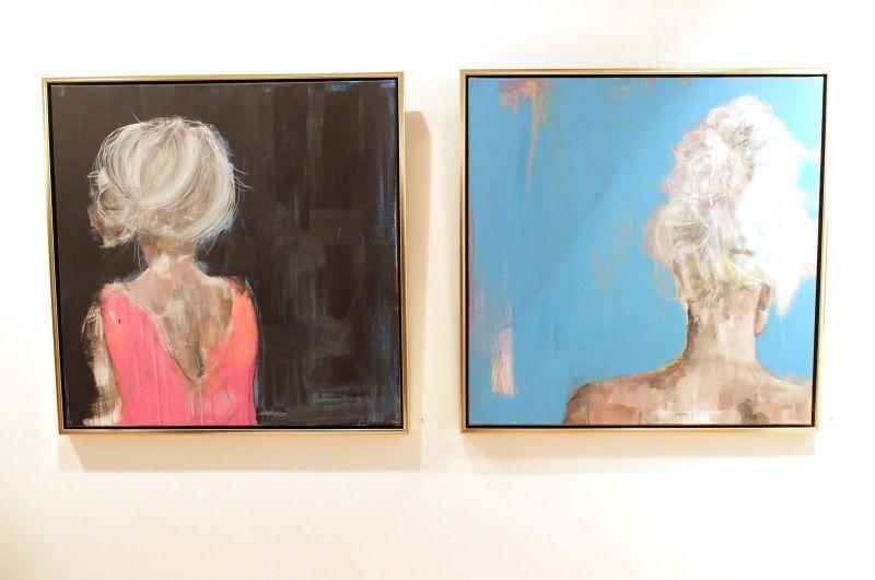 Kathrin André: Ohne Titel, Acryl, Tegernseer Kunstausstellung