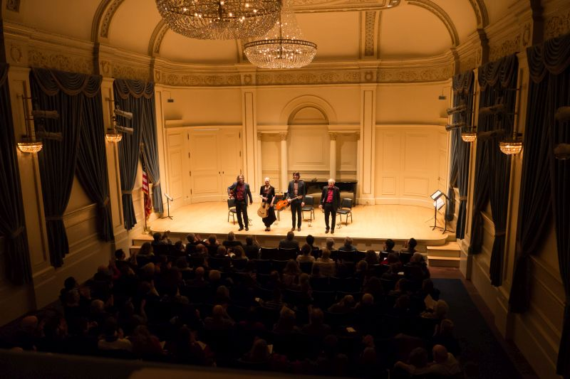 Machado Quartett beim Konzert in der Carnegie Hall in New York.