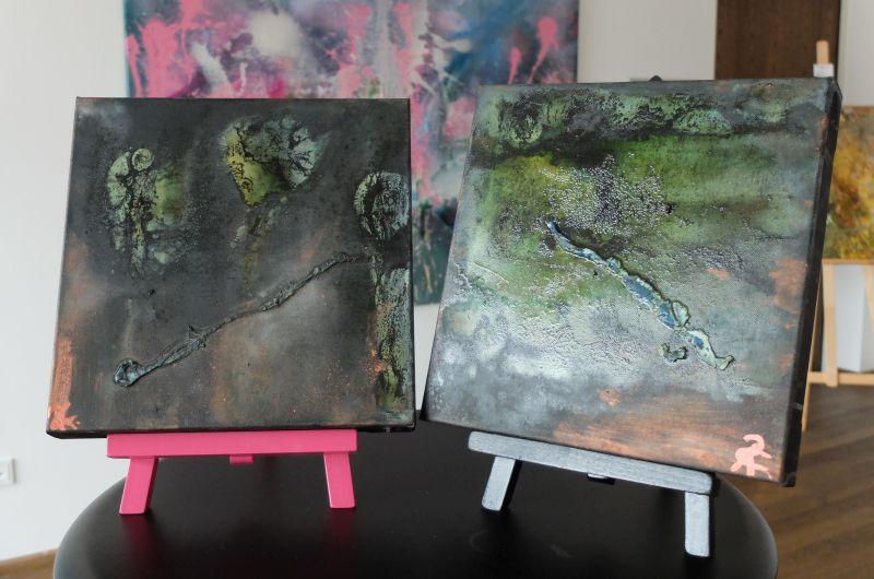 """""""Wesen"""" - kleinformatige Bilder von Cordula Rock im Seeforum Rottach-Egern"""