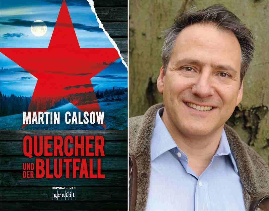 """Martin Calsow und sein neues Buch """"Quercher und die Blutfall"""". Foto: KN"""