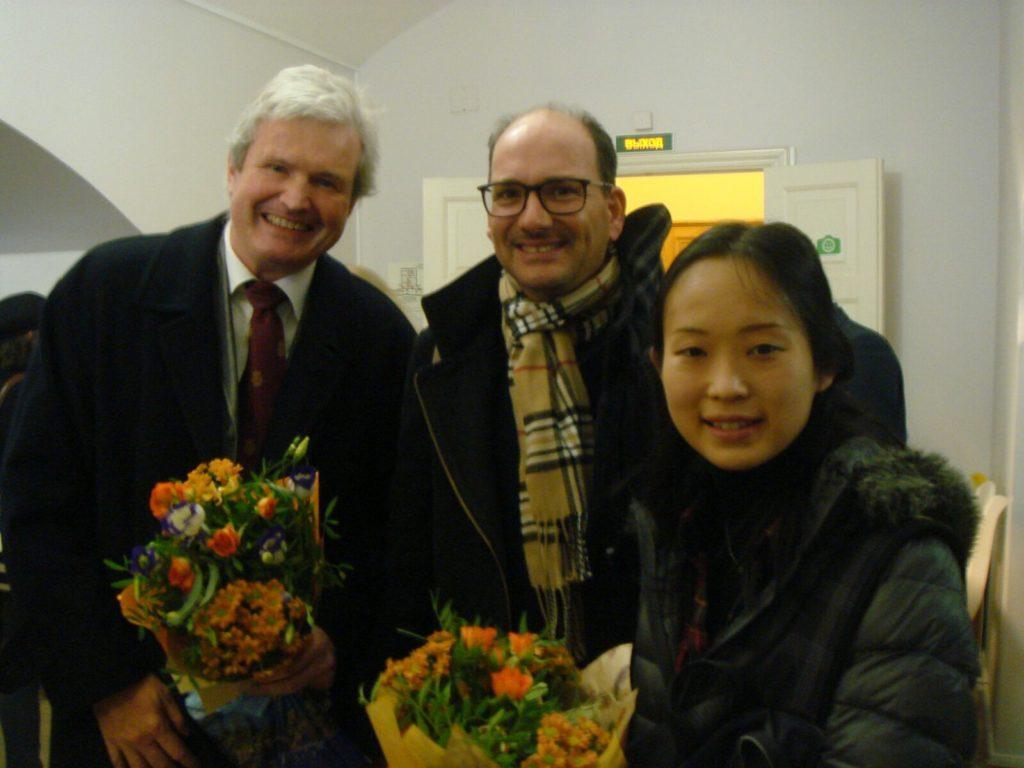 Mitglieder der Jury: Michael Schneidt, Marcus Vitolo, Eriko Takahashi (v.l.).