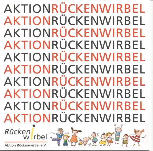 Broschüre Aktion Rückenwirbel e.V. für Prävention in den Schulen.