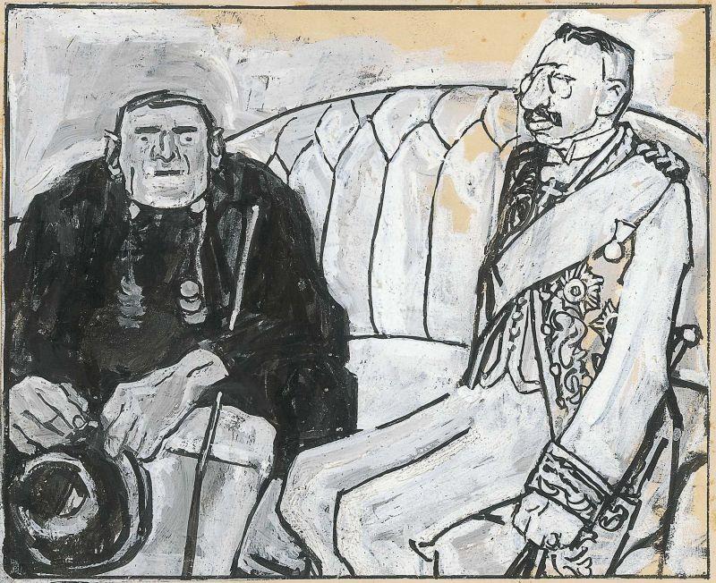 Eduard Thöny: Auf diplomatischem Parkett, 1908 (XVII), Simplicissimus Jg. 13, Heft 29