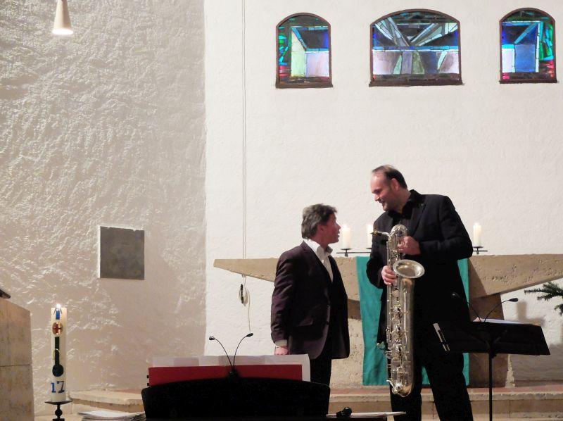 Organist Peter Wolff und Saxofonist Thomas Tomaschek.