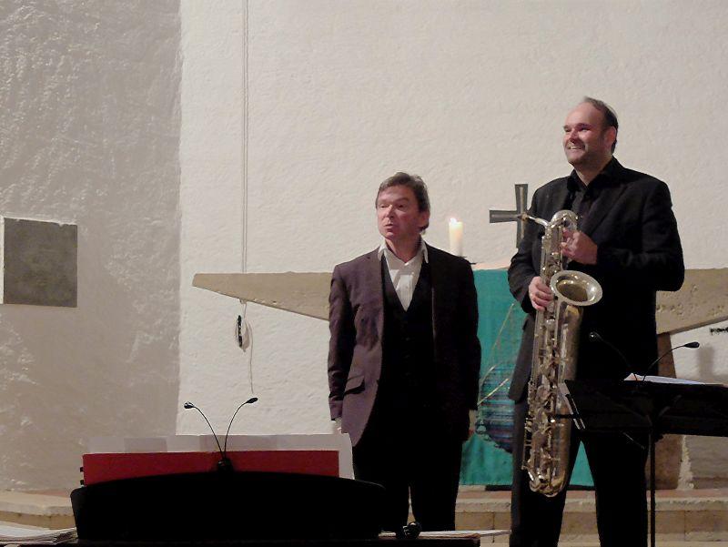 Organist Peter Wolff und Saxofonist Thomas Tomaschek