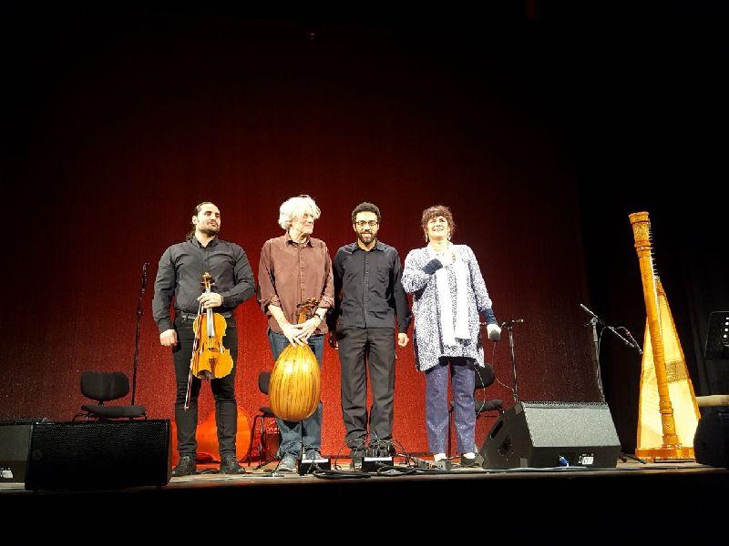 Ehab Aboufakher, Roman Bunka, Mohcine Ramadan, Uschi Laar Harfenfestival im Waitzinger Keller