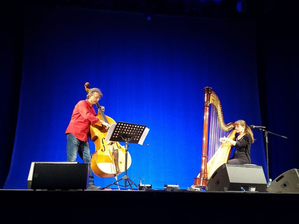 Dino Contenti, Monika Stadler beim Harfenfestival in Miesbach