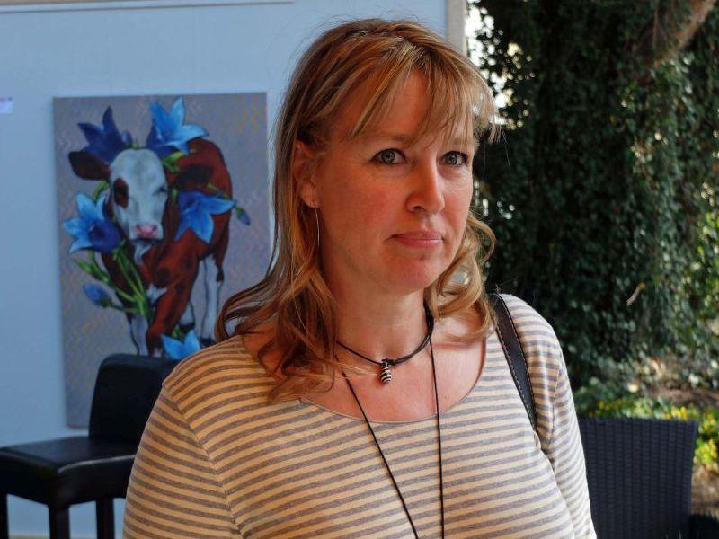 Tatjana Raum in der Galerie Kunst und mehr