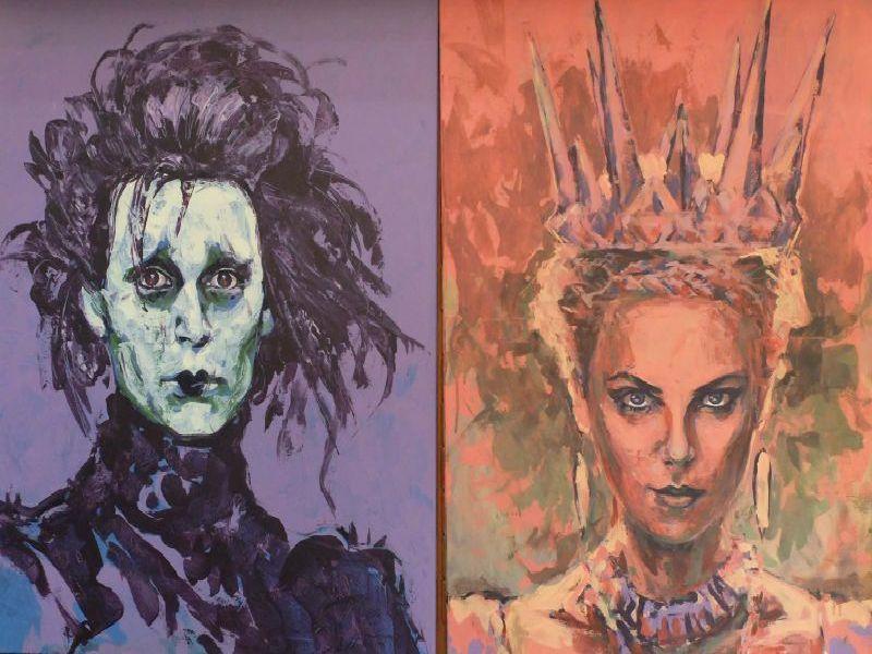 Portraits von Johnny Depp und Charlize Theron von Agnes Wieser
