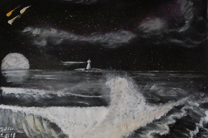 Das Meer hat für den Geflüchteten den Schrecken verloren: Er hat die Bootsfahrt überlebt