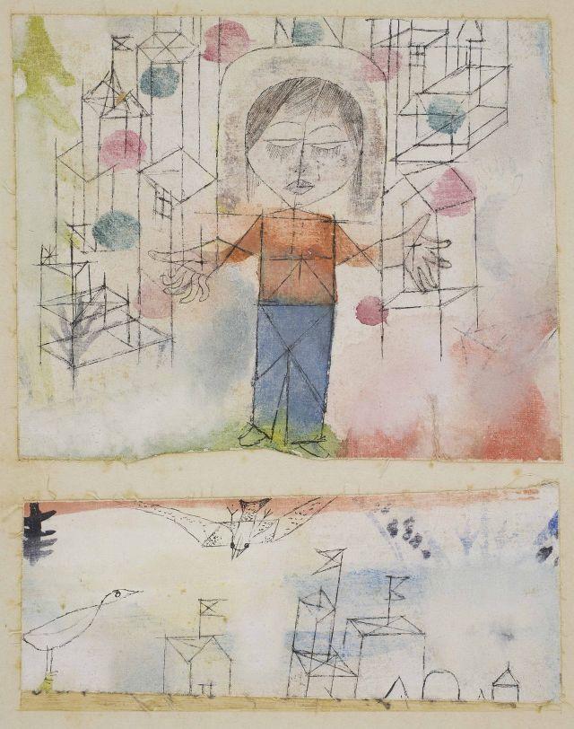 Paul Klee Ausstellung Pinakotheken: Paul_KLee_1918_Auserwahlter Knabe_NY Privatbesitz
