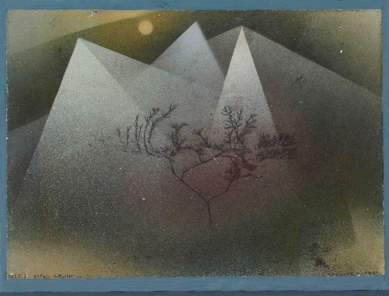 Paul Klee Ausstellung : Gebirge im Winter (1925)