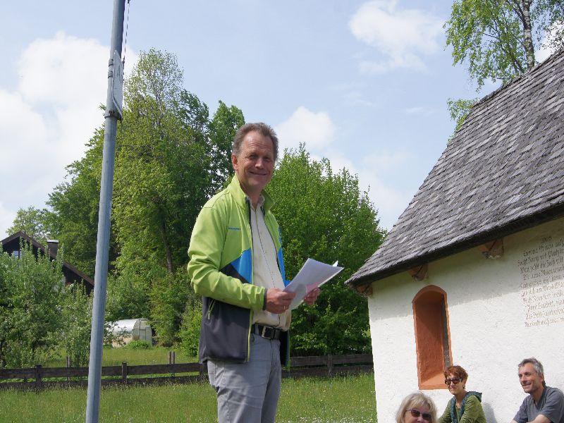Pastoralreferent Christof Langer reflektiert über die Verantwortung jedes Einzelnen beim Stationenweg