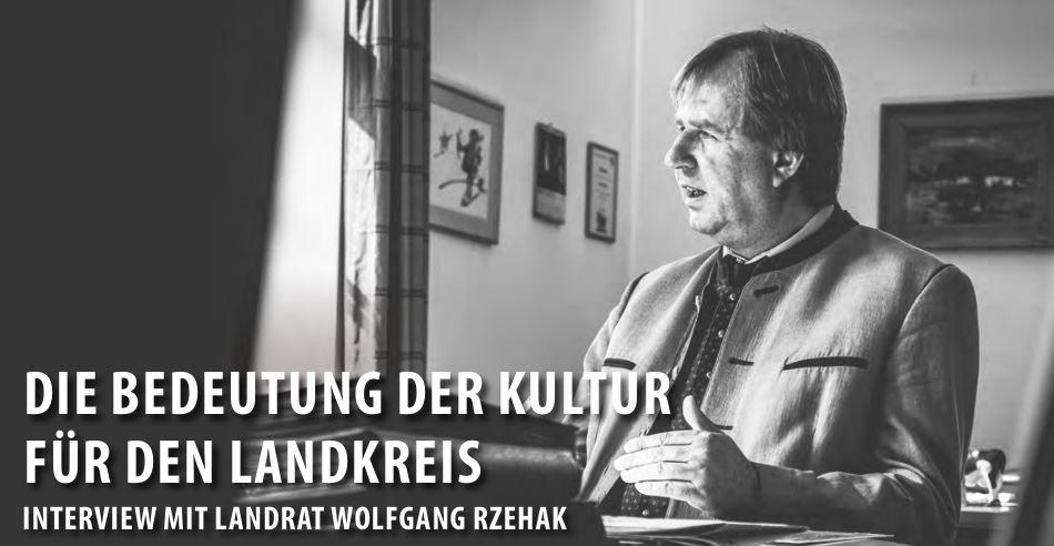 Landrat Wolfgang Rzehak im Interview mit Monika Ziegler