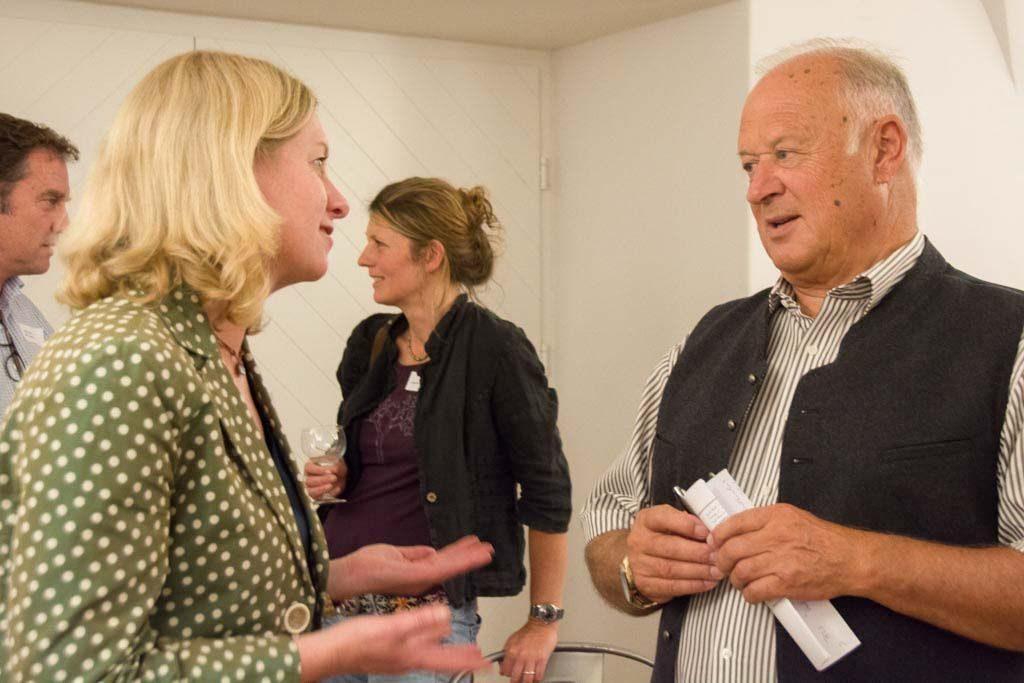 Ines Wagner (Vorstand KulturVision) und Rudi Wolf (Musikfest Kreuth am Tegernsee)