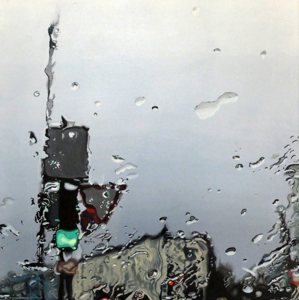 Brigitte Yoshiko Pruchnow - Licht in der Malerei - Regen