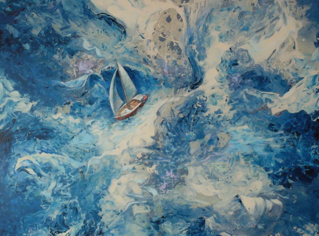 Kunst am Chiemsee - Alexander Walters sommerlich inspirierter Blick auf den Chiemsee (Ausschnitt)