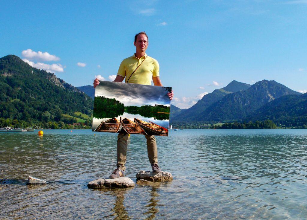 """Tom Kintscher am See mit """"Drei Boote"""""""