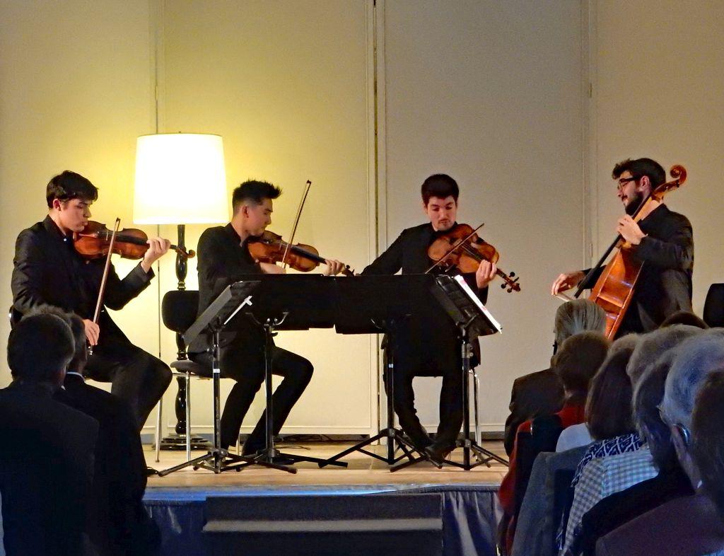 Konzert im Barocksaal - Das junge Ensemble Quatuor Arod aus Paris:Jordan Victoria 1.Violine, Alexandre Vu, 2. Violine, Tanguy Parisot , Viola, Simon Dechambre, Cello