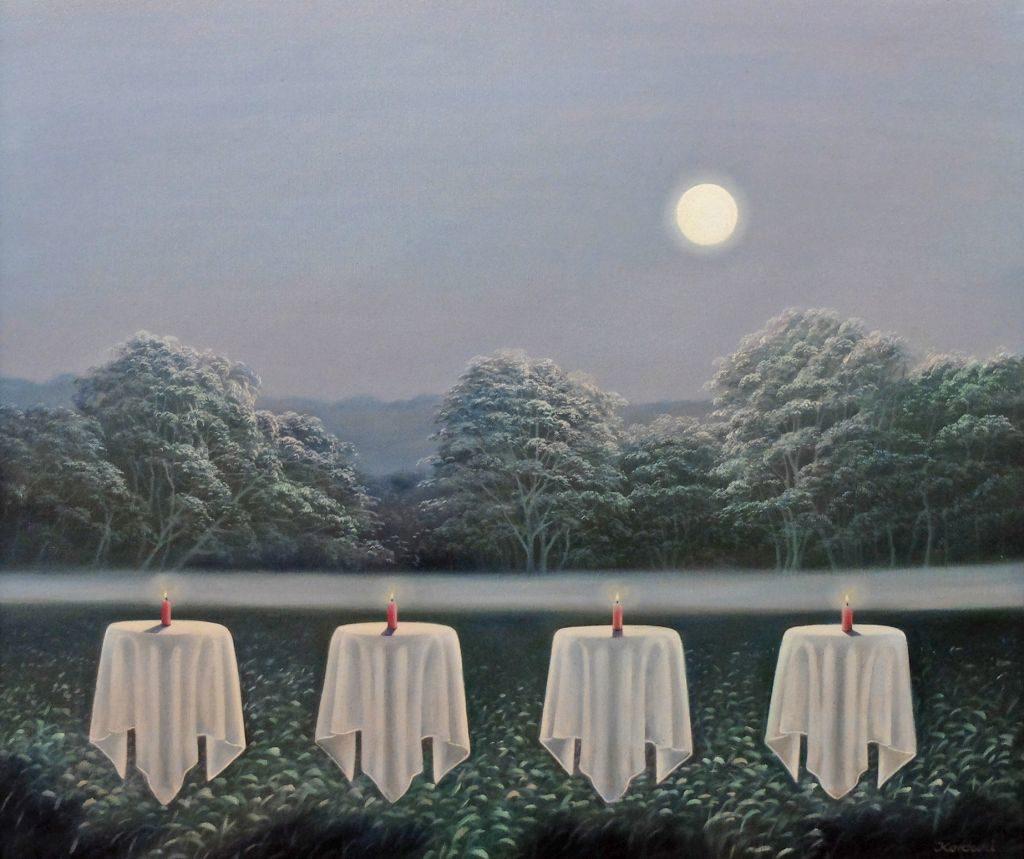 Künstlerin H. Lucia Kordecki Mondschein-Party