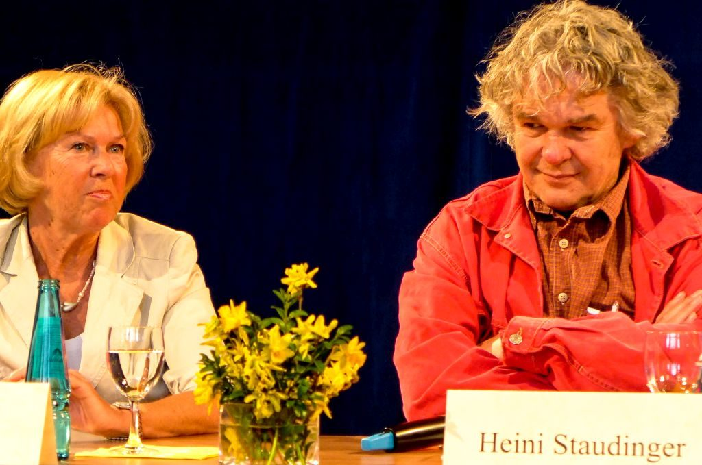 Monika Ziegler und Heini Staudinger beim 1. Spurwechseltag