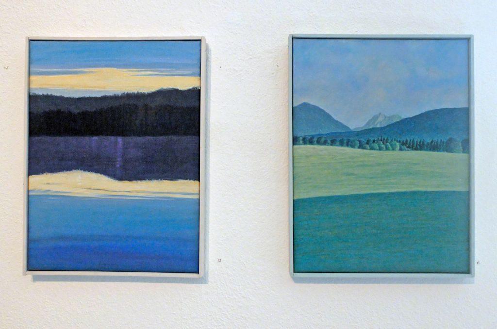 Reinhold Schmid reduziert Landschaften auf das Wesentliche