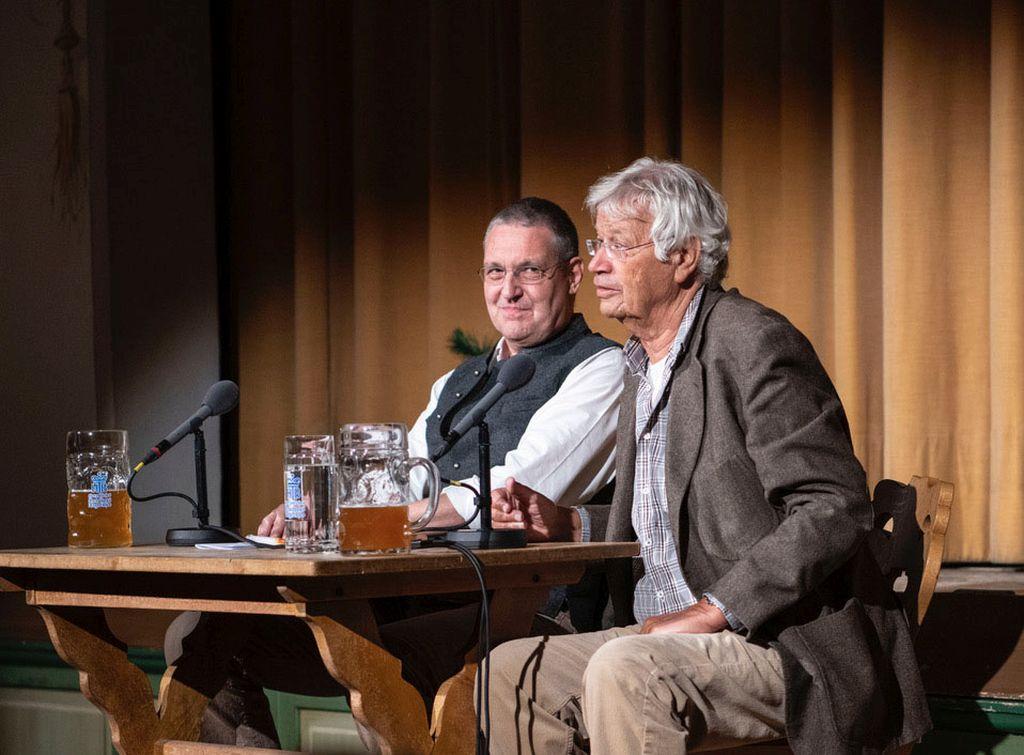 Kulturherbst in Schliersee - Markus Ederer, EU Botschafter in Moskau und Kabarettist Gerhard Polt beim Schlierseer Gespräch