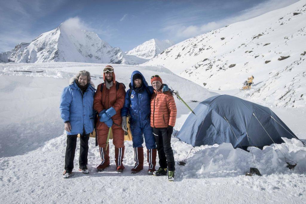 Reinhold Messner, Simon Messner, Peter Habeler, Philipp Brugger ServusTV_AlexanderBrus