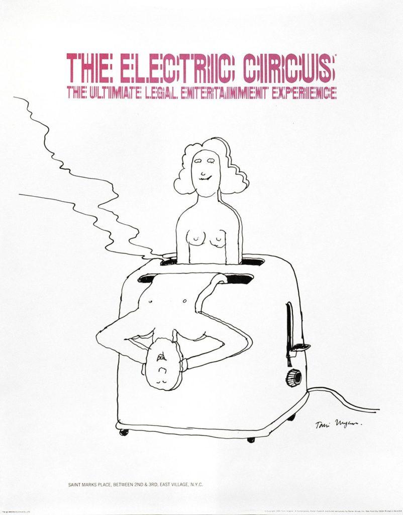 Tomi Ungerer - Werbeposter für The Electric Circus