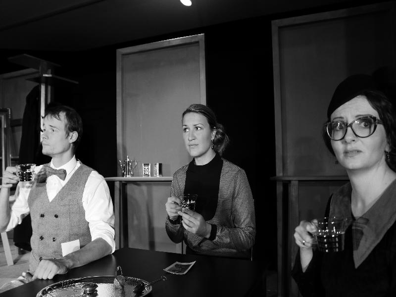 Nikolaus Ruml, Sonja Fischbacher und Veronika Halmbacher mit wunderbarer Mimik
