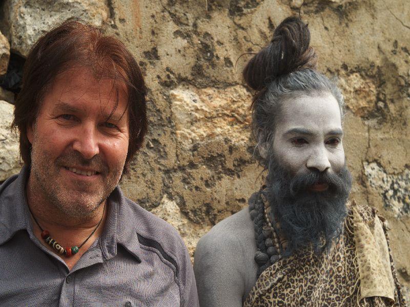 Ethnologe Bruno Baumann trifft Baba Foto: Bruno Baumann