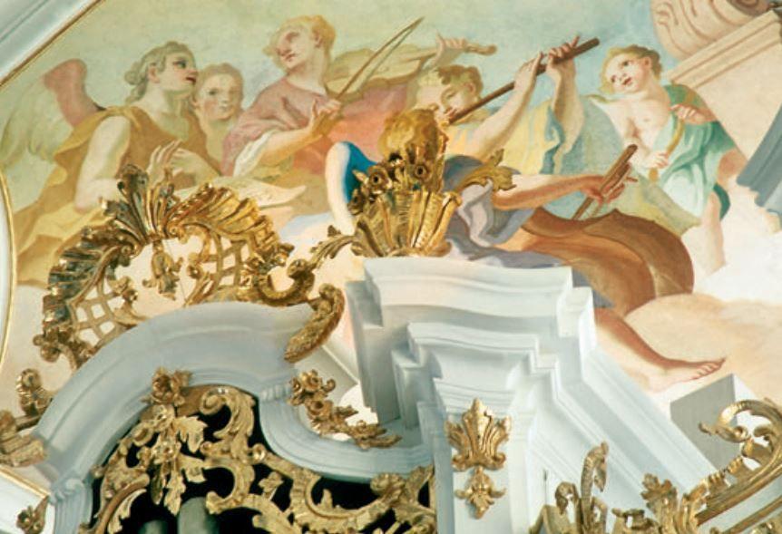 Barocke Künste auf einem Bild vereint
