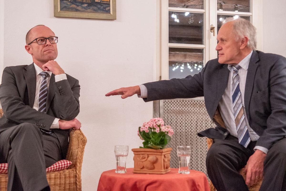 Dr. Christoph Prechtl und Josef Kraus